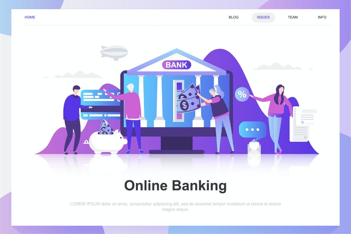 Thumbnail for Online Banking Flat Concept