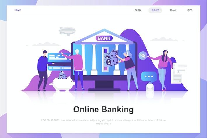 Thumbnail for Online Banking Flat Konzept