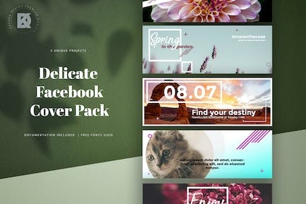 Delicate Facebook Cover Pack