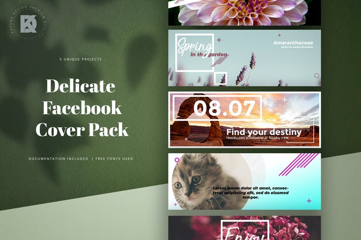 Thumbnail for Delicate Facebook Cover Pack