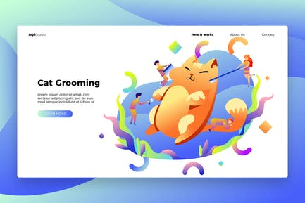 Cat Grooming - Banner & Landing Page