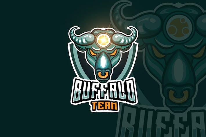 Thumbnail for Buffalo Mascot & eSports Gaming Logo