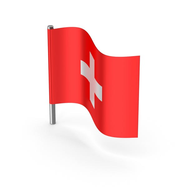 Switzerland Cartoon Flag