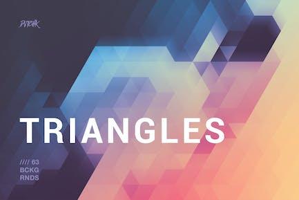 Unscharfe Dreiecke Hintergründe