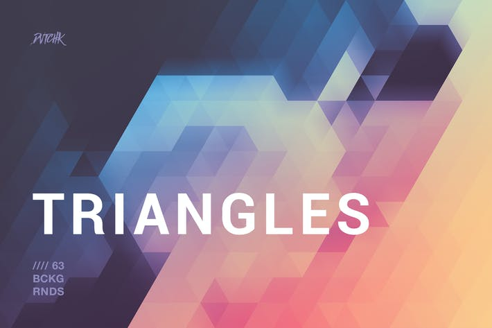 Thumbnail for Blurry Triangles Backgrounds