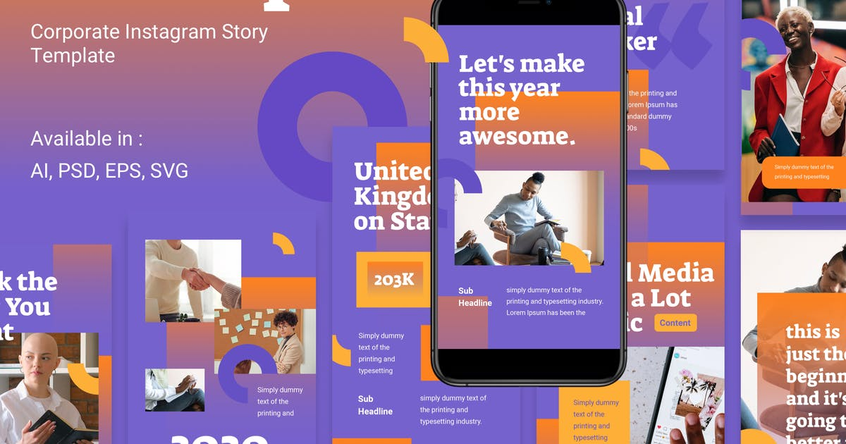 Download Business Corporate Instagram Story Template by deTheme