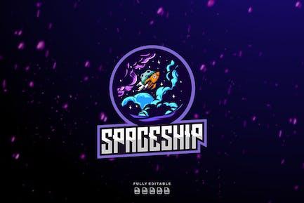 Spaceship Rocket Logo