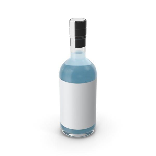 Синяя сухая бутылка джина