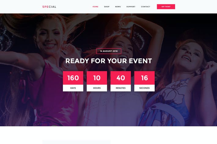 Thumbnail for Event Management PSD Template