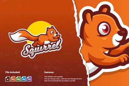 Squirrel Mascot Logo Template