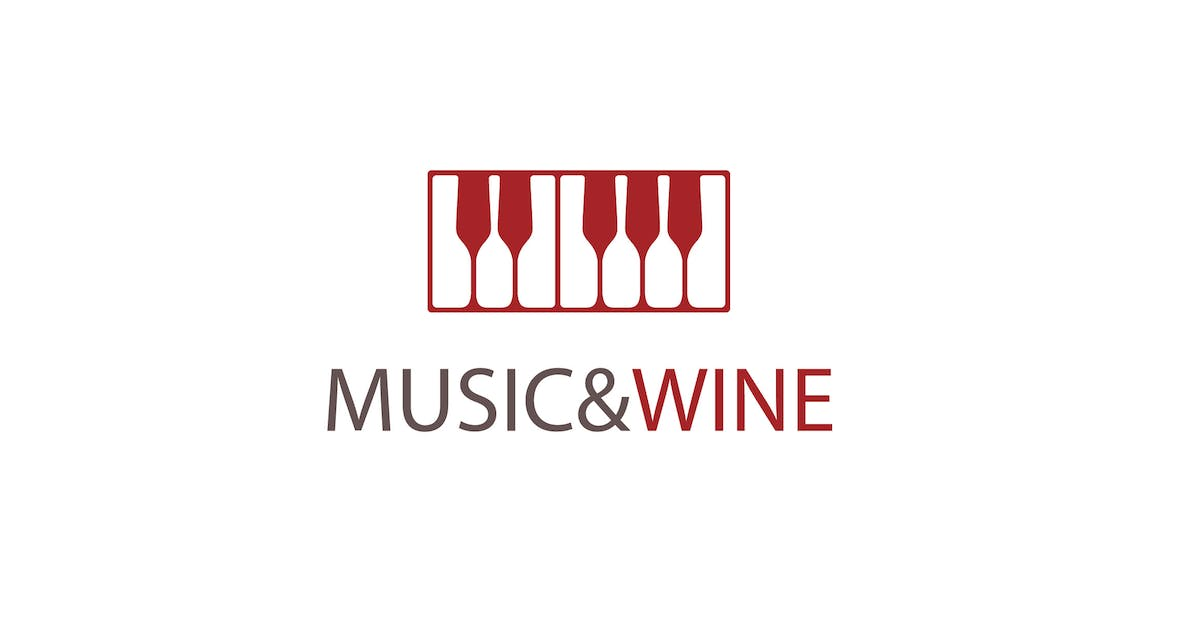 Download Music and Wine Logo Teamplate by 1protheme