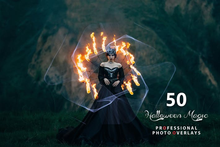 Thumbnail for 50 superposiciones de fotos mágicas de Halloween