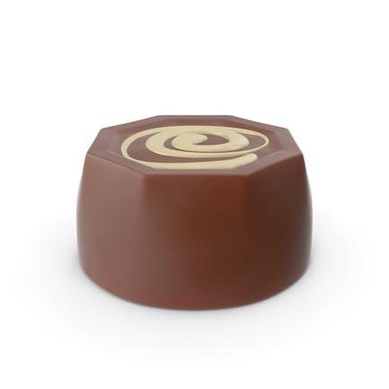 Zylinder Octagon Schokoladenbonbons mit Cheesecake-Linie