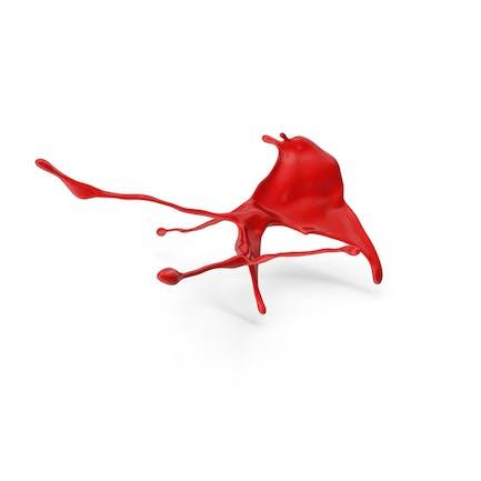 Salpicaduras de pintura roja abstracta