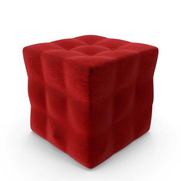 Tufted Box Pouf