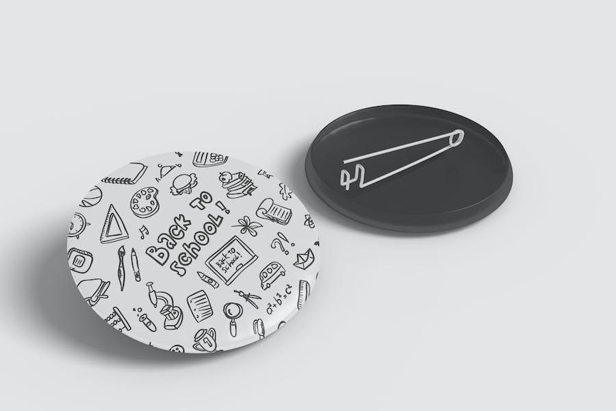 Pin Badge Mockup Vol 1.1