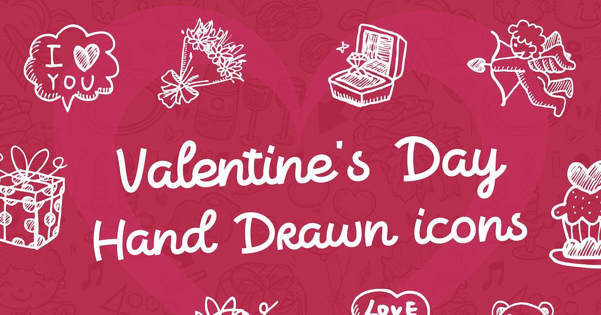 Valentine's Day Hand Drawn Icons + BONUS by iconsoul