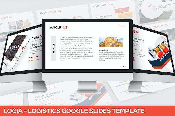 Thumbnail for Logia - Logistics Google Slides Template