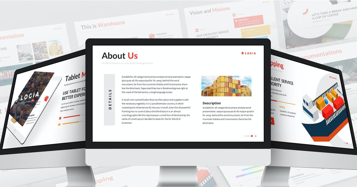 Download Logia - Logistics Google Slides Template by SlideFactory