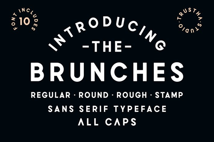 Thumbnail for Brunches Font Family