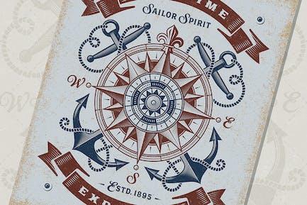 Vintage Maritime Explorer Typography