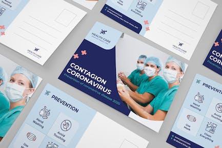 Coronavirus medical postcard