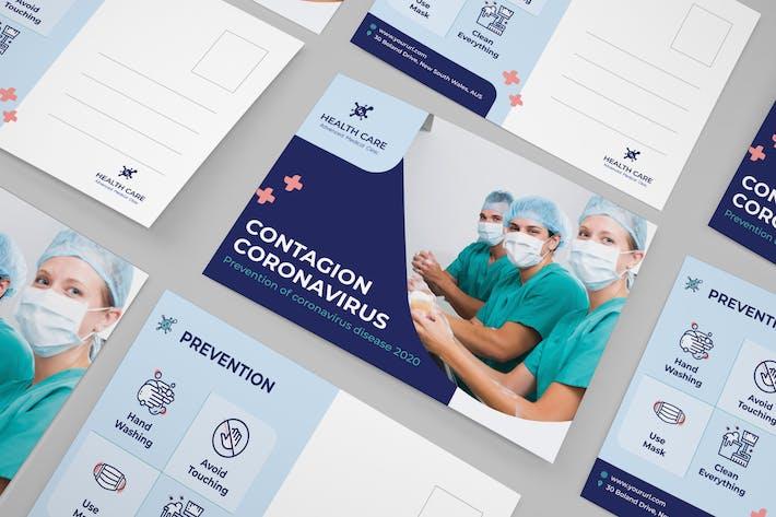 Thumbnail for Coronavirus medical postcard
