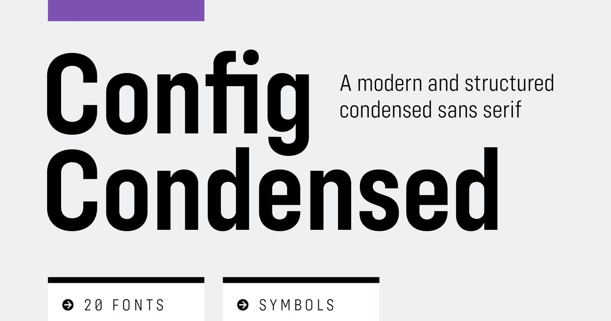 Config Condensed Font Family by adamladd