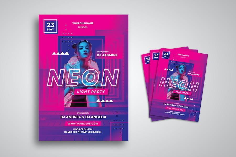 dépliant Neon Party