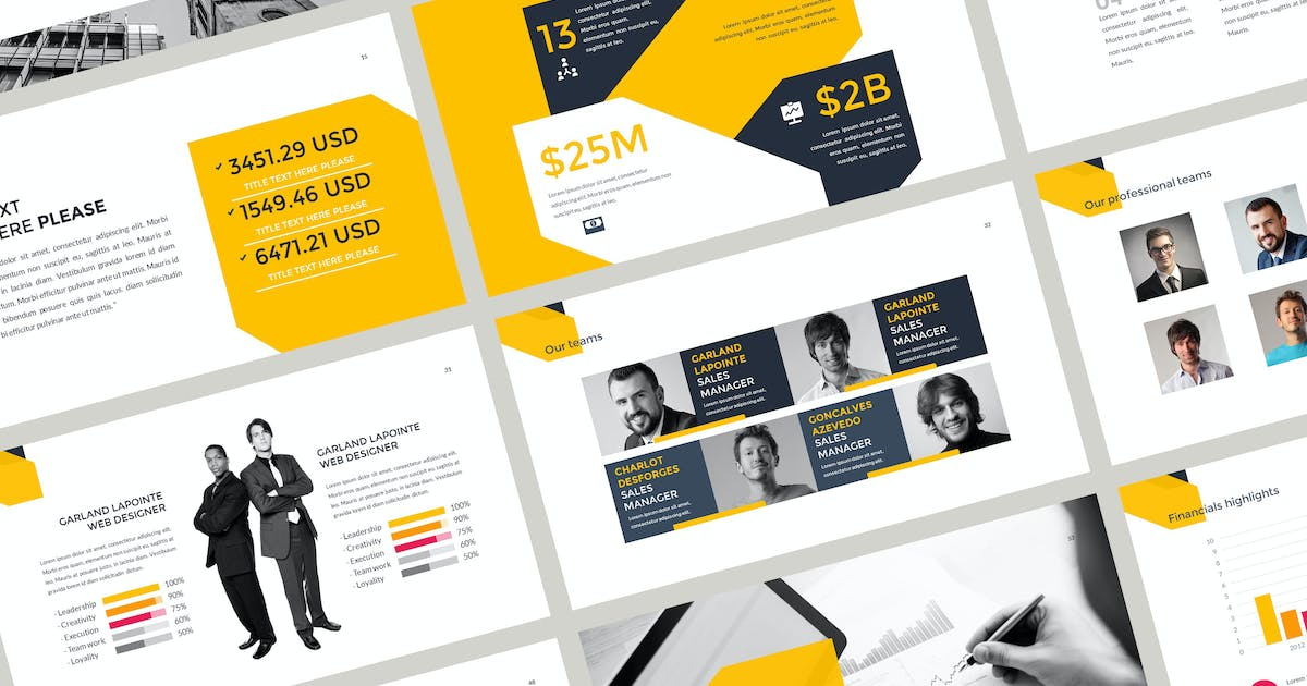 Download Annual Report Keynote Template by atsar