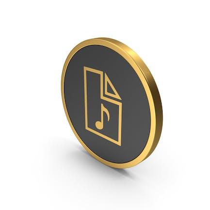 Gold Icon Audio File
