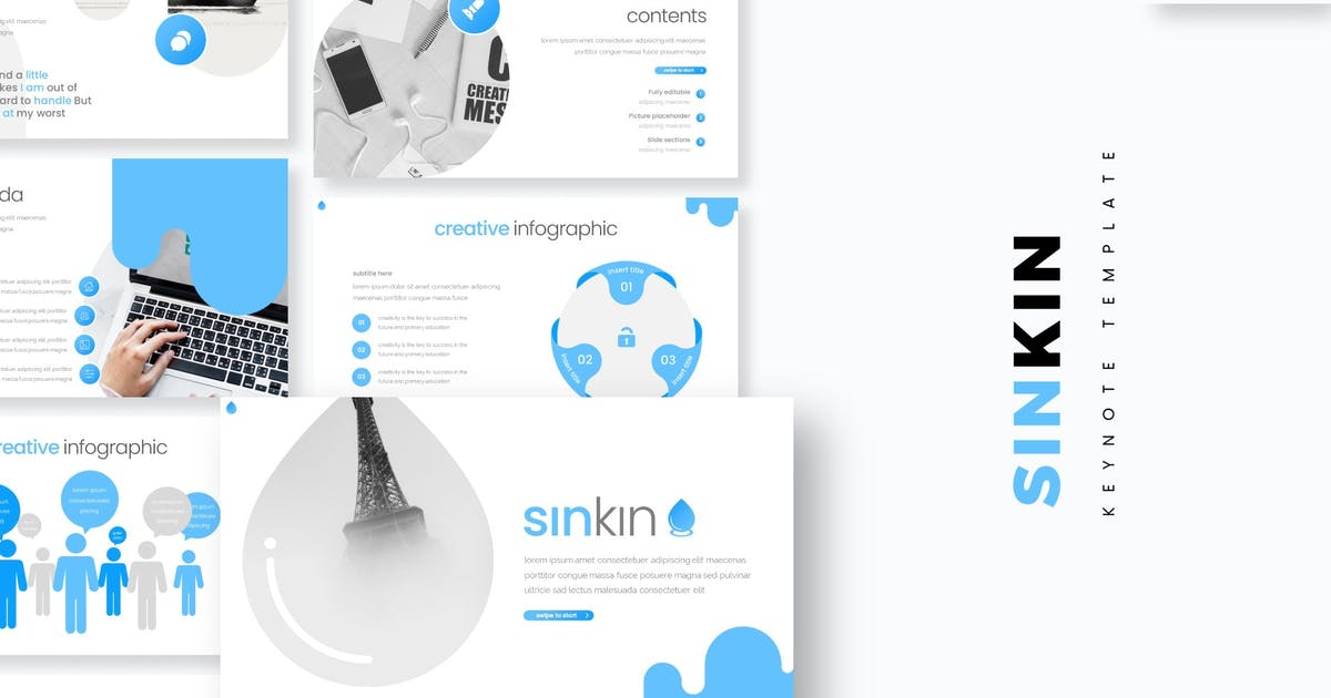 Download Sinkin - Keynote Template by aqrstudio