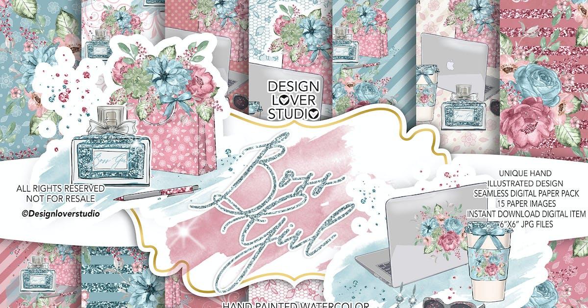 Download Boss Girl digital paper pack by designloverstudio