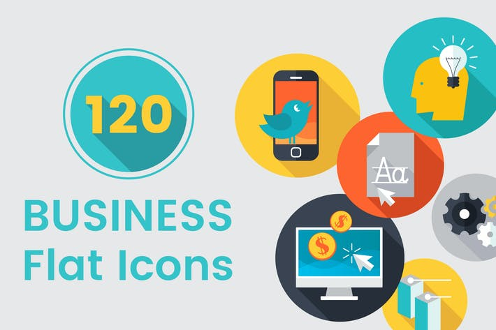 Thumbnail for 120 Business Flat Icons