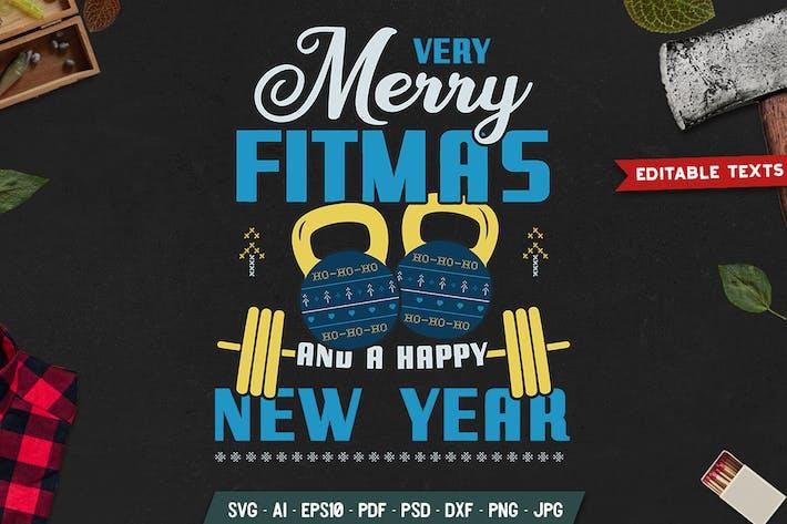Fröhliche Fitmas, glückliches neues Jahr