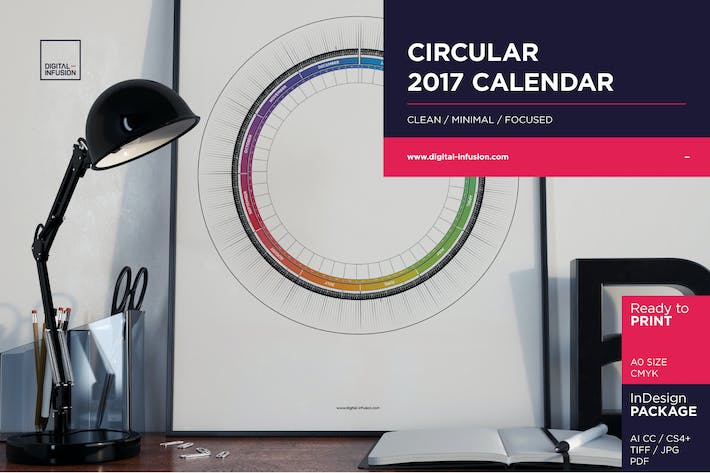 Thumbnail for Calendrier Circulaire 2017