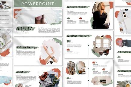 Arella - Кисть Powerpoint шаблон