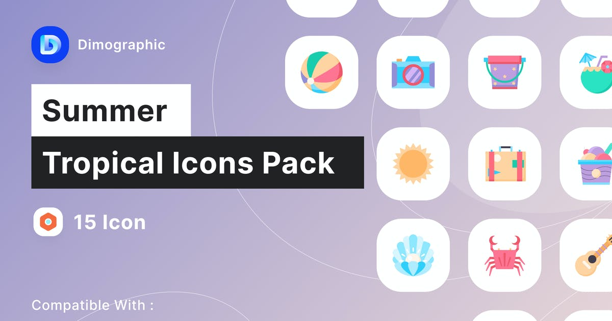 Download Summer Tropical Icon Pack by DimoGraphic