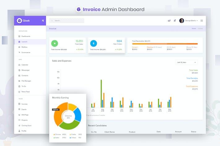 Thumbnail for Invoice Admin Dashboard UI Kit