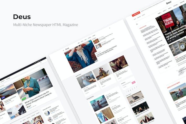 Cover Image For Deus | Multi-Niche Newspaper HTML Magazine