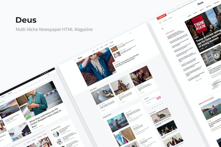 Deus | Multi-Niche Newspaper HTML Magazine