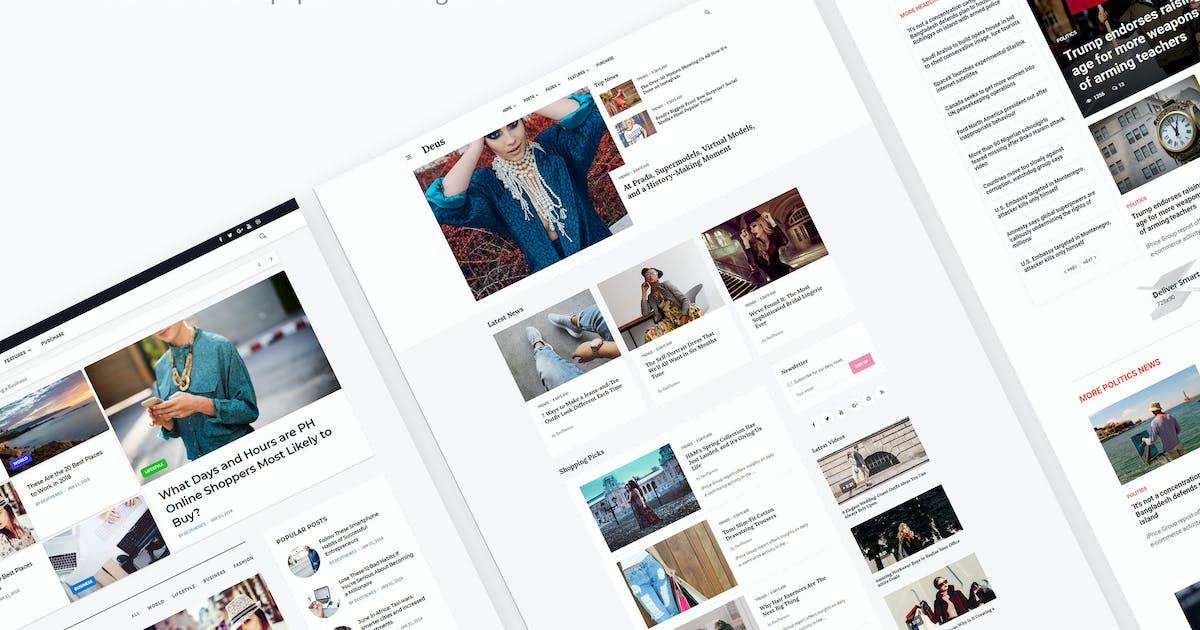 Download Deus | Multi-Niche Newspaper HTML Magazine by DeoThemes