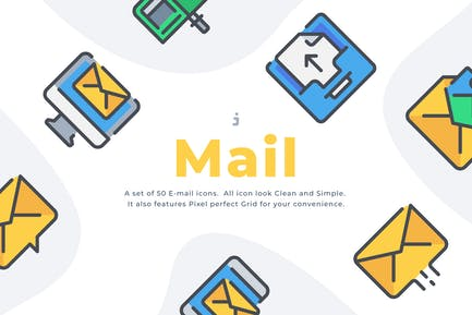 50 Email icon set