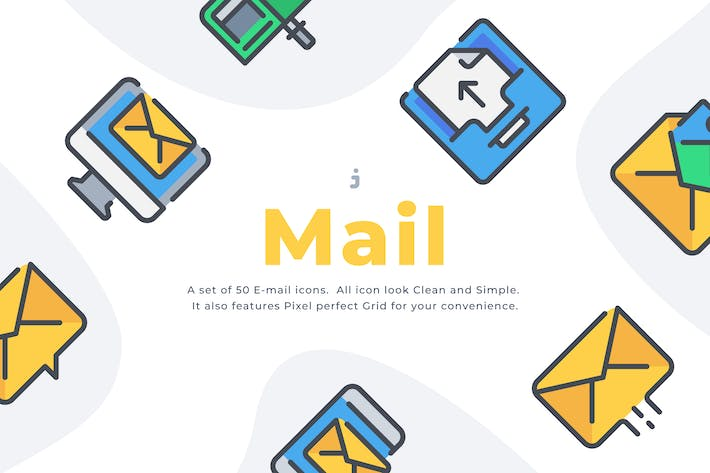 Thumbnail for 50 Email icon set