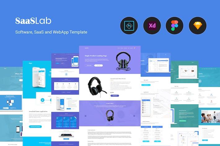 Thumbnail for SaaSLab - Software, SaaS and WebApp Template
