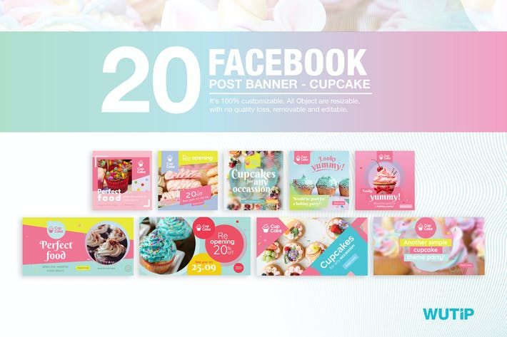Thumbnail for 20 Facebook Post Banner - Cupcake