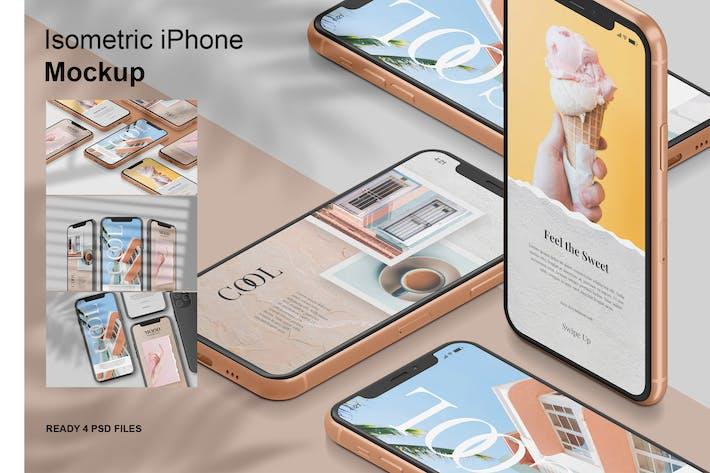 Thumbnail for Isometric iPhone -  Mockup