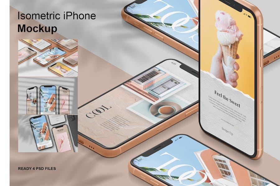 Isometric iPhone -  Mockup