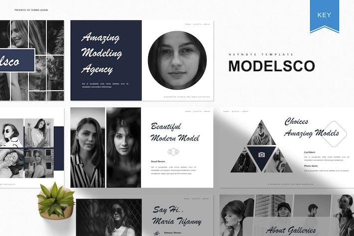 Thumbnail for Modelsco | Keynote Template