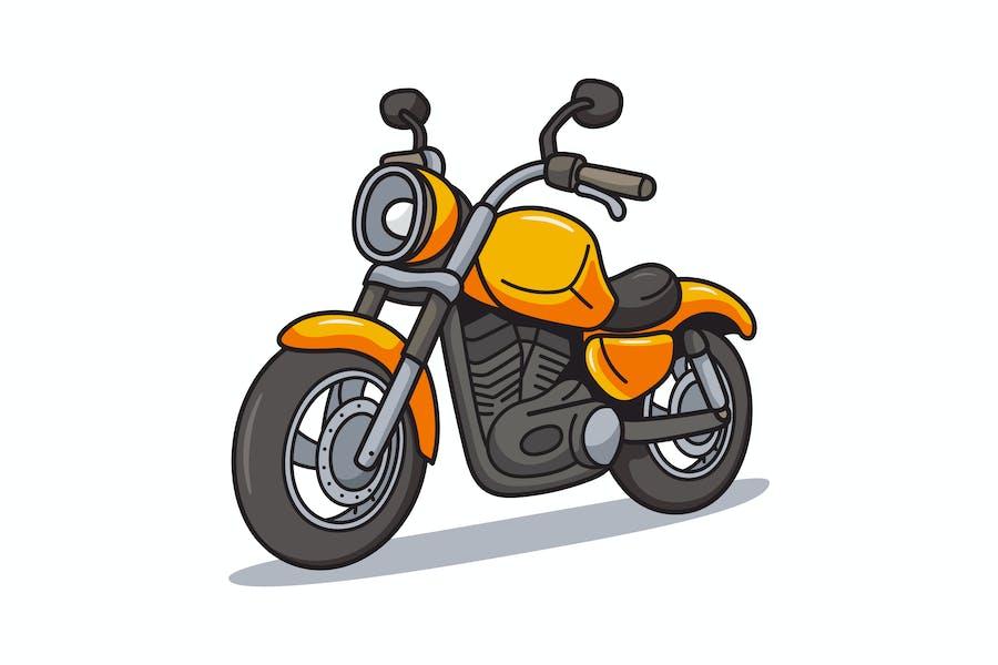 Cruiser Motorcycle Cartoon